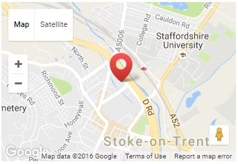 Map of Hixon Group Limited Location in Stoke on Trent - Provider of IT Support and Cloud Solutions