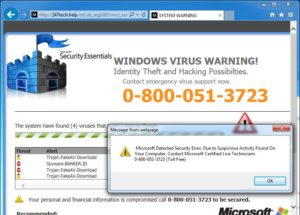 Users presume that the warnings were legitimate, but later find that they are victims of scareware.
