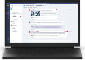Screenshot of Microsoft Teams Desktop Software